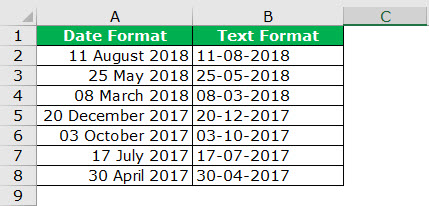 date to text example 3