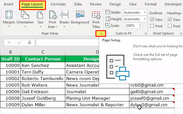 print comments in excel step 2