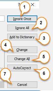 spell check in excel example 1-7