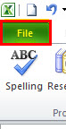 spell check in excel step 1
