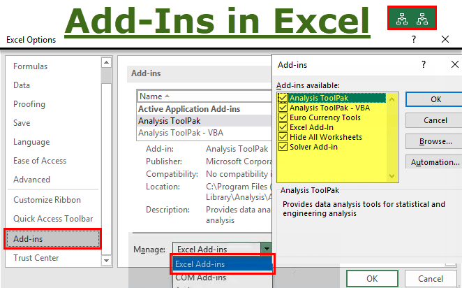 Add-Ins in Excel