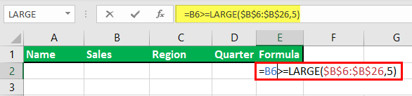 Advance Filter in Excel Example 7