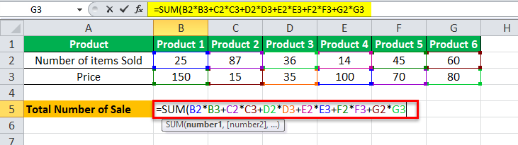 Arrays Formula in Excel example 1-1