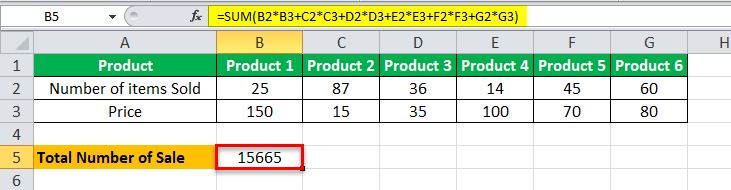 Arrays Formula in Excel example 1-2
