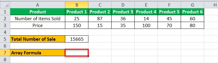 Arrays Formula in Excel example 1-3