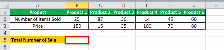 Arrays Formula in Excel example 1