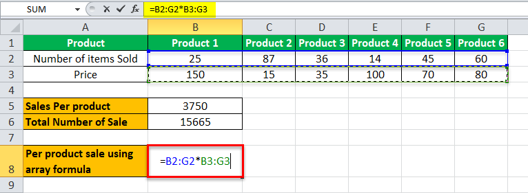 Array Formulas in Excel (Example, Shortcut) | How to use