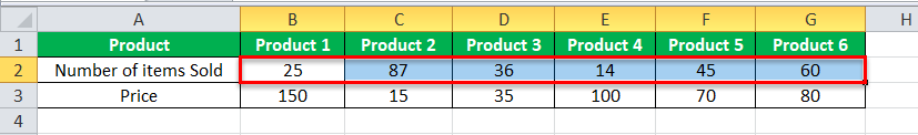 Arrays in Excel example 1