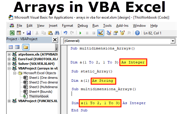 Arrays in VBA Excel