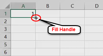AutoFill in Excel - Example 1-1