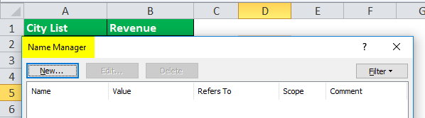 Drop Down List in excel step 2-2