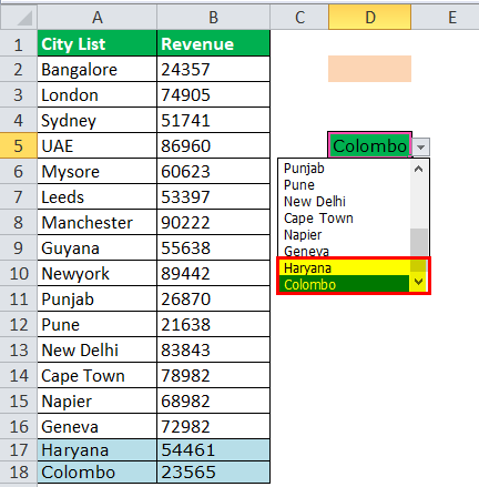 Drop Down List in excel step 2-6