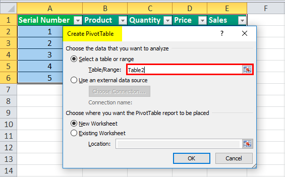 How to create Dynamic Tables in Excel (Using TABLE & OFFSET