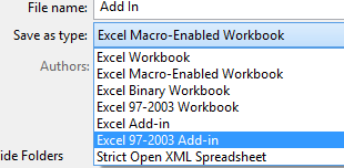 Excel Add-Ins - example 1-3