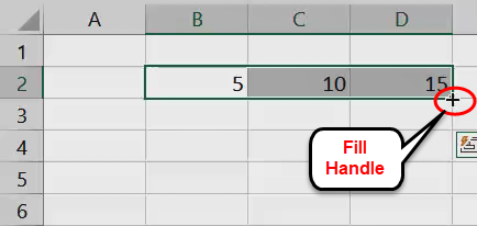 Fill Handle in Excel 1