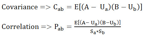 Formula for Covariance and Correlation