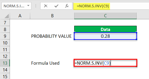 Norm.S.INV Example 1-7