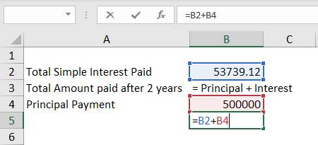 Simple Interest Formula - Practical Example 1-1