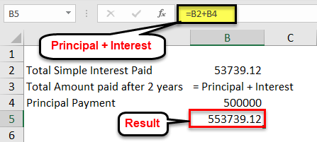 Simple Interest Formula - Practical Example 1-2