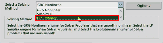 Solver in Excel - step10