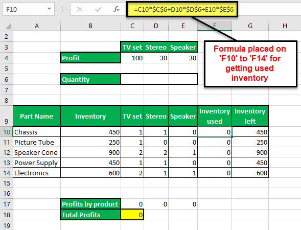 Solver in Excel - step16