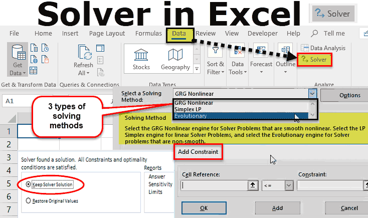 Solver in Excel
