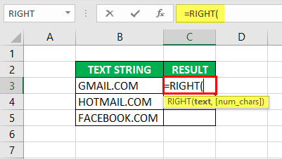 Substring in Excel - Example 2-1