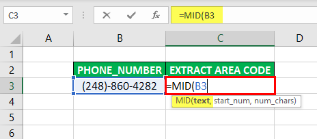 Substring in Excel - Example 3-2
