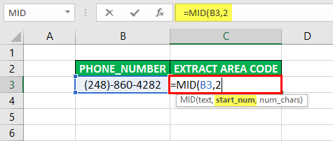 Substring in Excel - Example 3-3