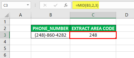 Substring in Excel - Example 3-4