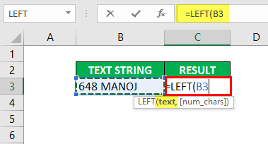 Substring in Excel - Example1-2