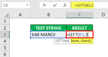 Substring in Excel - Example1-3
