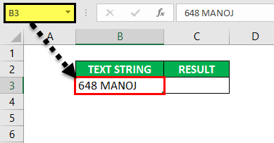 Substring in Excel - Example1