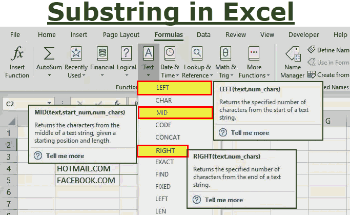 Substring in Excel