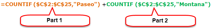 Using Double COUNTIF function 1-3