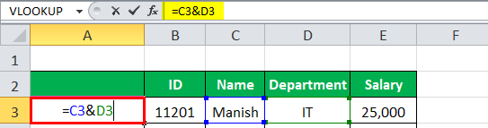 VLOOKUP with multiple criteria Example 1-2