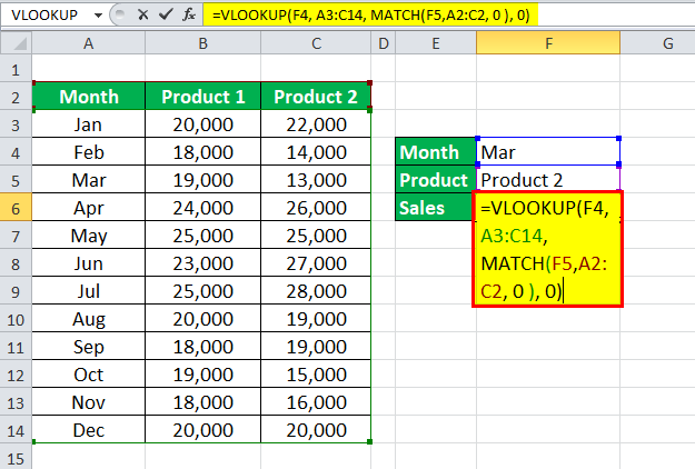 VLOOKUP with multiple criteria Example 2-3