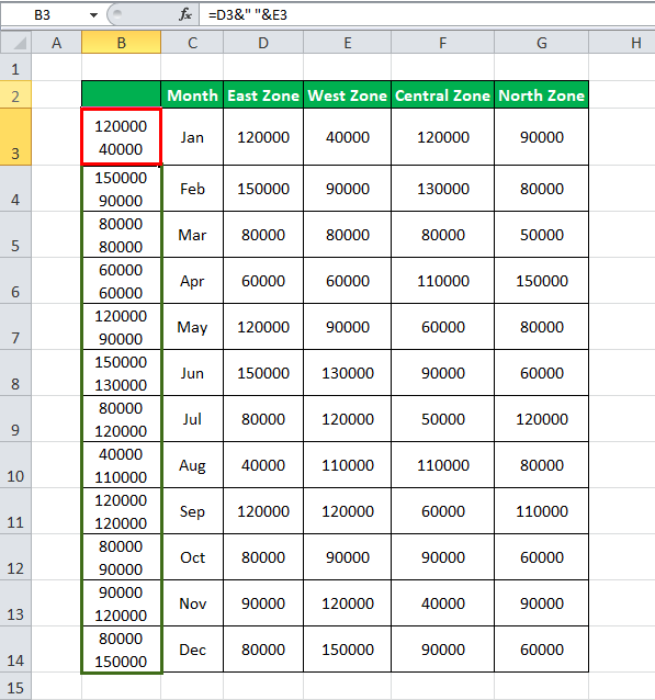VLOOKUP with multiple criteria Example 3-2