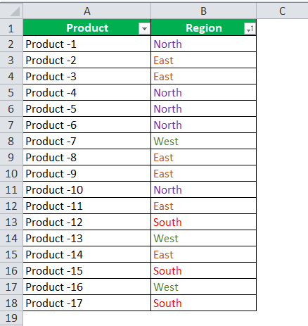 font color data by in excel example