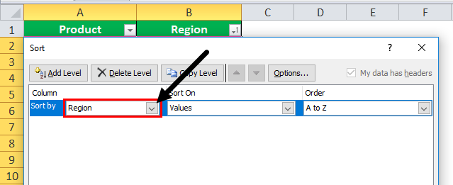 font color data by in excel step 2