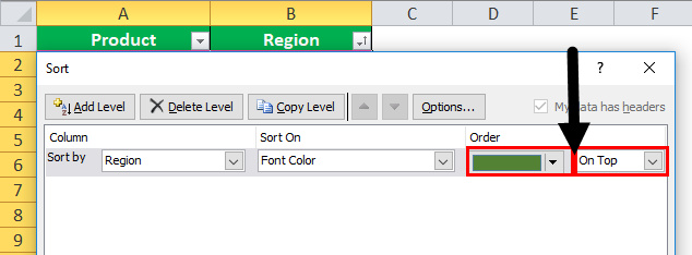 font color data by in excel step 4