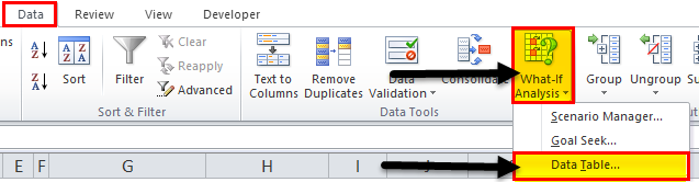 one variable data in excel step 4..