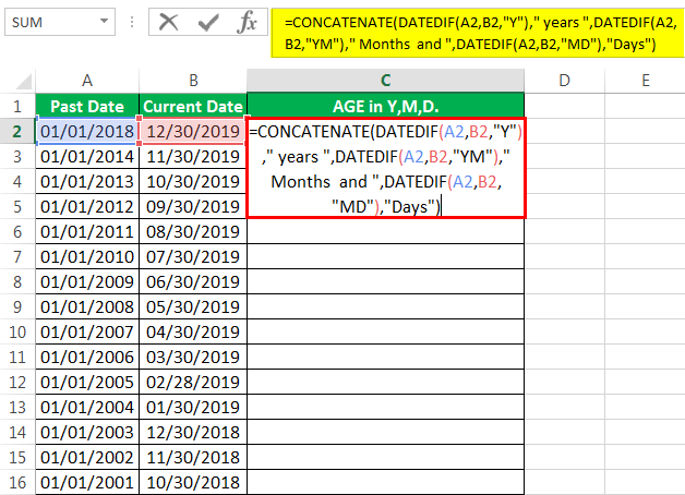 Calculate Age in Excel   How to Calculate Age from Birthday