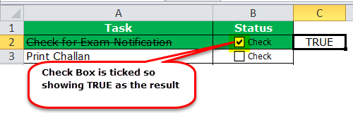 Check list in Excel Example 1-5