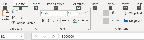 excel ribbon example 2.2