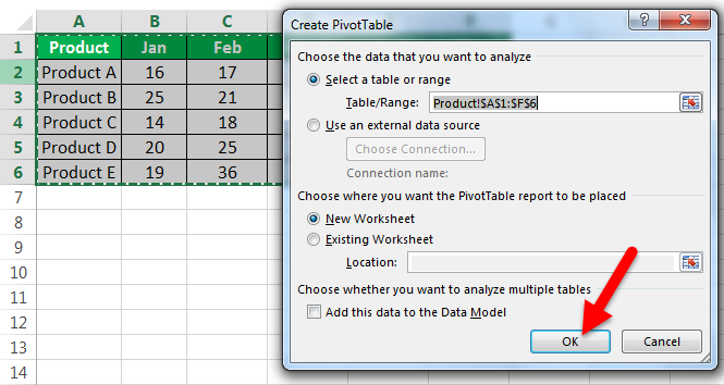 Conditional Formatting Pivot Tables Example 2-2