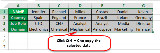 Convert Rows to Columns Example 1-1