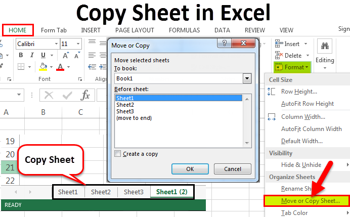Copy Sheet in Excel