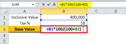Division Formula in Excel Example 3-1