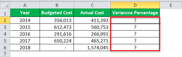 Division Formula in Excel Example 4